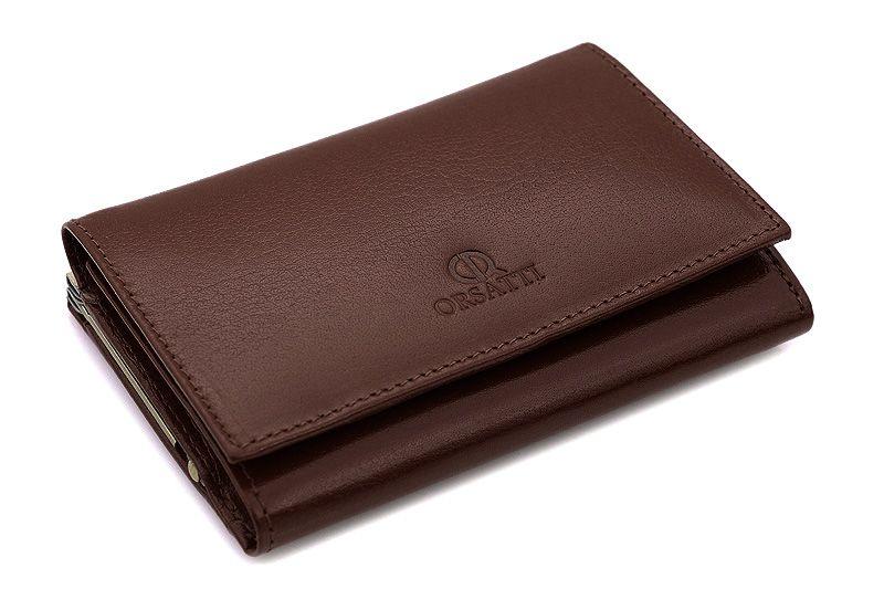 Skórzany portfel damski Orsatti D-02B w kolorze brązowym zdjęcie 4