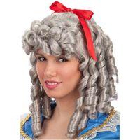 PERUKA średniowieczna LADY szare włosy historyczna