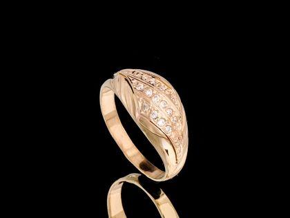 P435 Złoty pierścionek z cyrkoniami 585 /Jubi