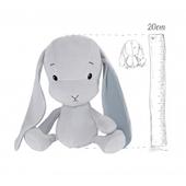Effiki - Królik Effik S - Szary, niebieskie uszy, 20 cm zdjęcie 5