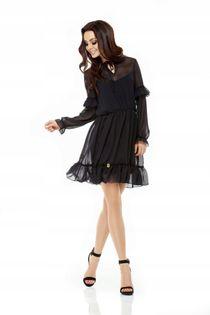 L240 Zwiewna sukienka CZARNA 36/38 S/M 24h