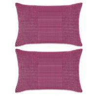 Zestaw 2 Poduszek Z Weluru W Kolorze Różowym, 40 X 60 Cm