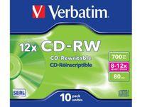 Verbatim Płyty CD-RW 12x 700MB 10P JC 43148