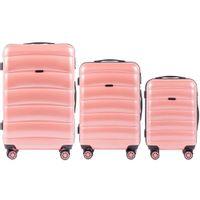 Zestaw 3 walizek KEMER WINGS PC160 Różowe
