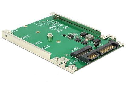 """Adapter SATA 22pin - M.2 NGFF na płytce 2.5"""" Delock"""