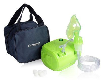 Inhalator nebulizator dla dzieci i dorosłych OMNIBUS BR-CN116 Zielony