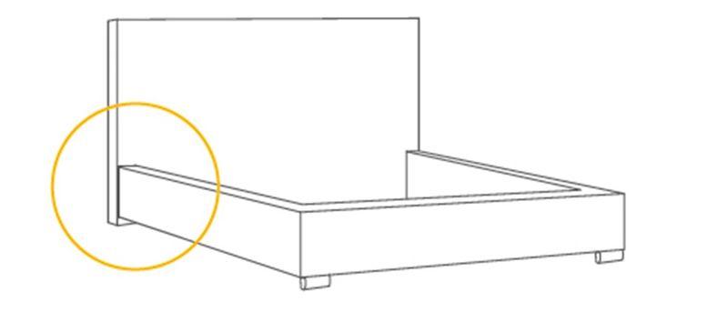 Łóżko tapicerowane STORIE 160x200+ Stelaż zdjęcie 6