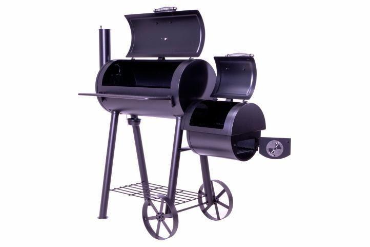 Grill z wędzarnią, grill ogrodowy XL, BBQ, rożen, wędzarnia zdjęcie 3