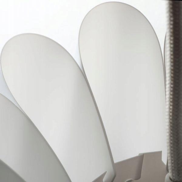 Lampa sufitowa BIAŁA żyrandol nowoczesny KANLUX abażur wisząca E27 LED zdjęcie 2