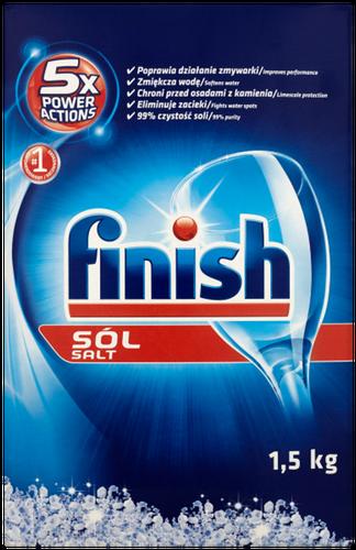 Sól do zmywarki Finish 5x Power Actions 1,5 kg na Arena.pl
