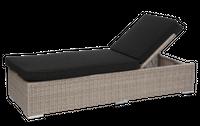 Leżak West z poduszką 193x62x35 cm