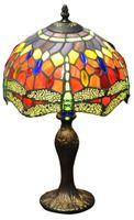 "Lampa Red Dragonfly Tiffany 10 """