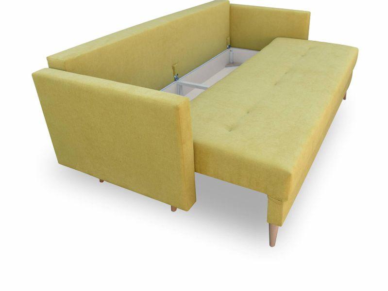 Kanapa rozkładana z funkcją spania na sprężynach, zmywalna sofa Lahti zdjęcie 11