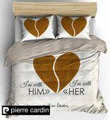 MARKOWA pościel Pierre Cardin 200x220 HollandHome SERCE HIS HER side