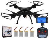 Dron TD08 II Generacji Kamera WiFi Podgląd na żywo 4x AKU CZARNY Z312Z