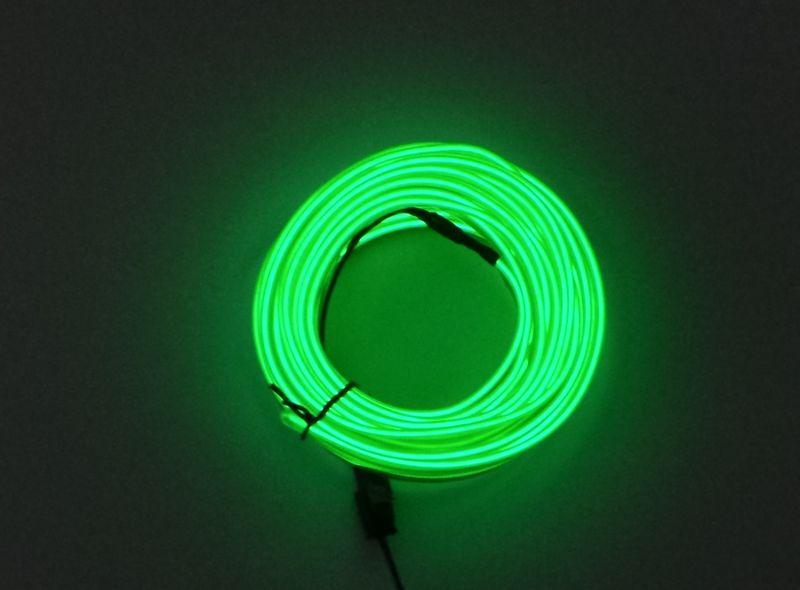 Światłowód EL WIRE Ambient Taśma LED 5m zielony zdjęcie 9