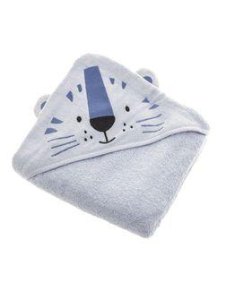 PEPCO Ręcznik dziecięcy kąpielowy 350GSM z kapturkiem i aplikacją welur 100x100 cm