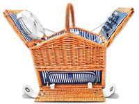 Kosz piknikowy z dodatkową komorą termotorbą 4 os ceramika prezent