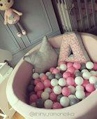 Suchy basen dla dzieci z piłeczkami 90x40 okrągły - pudrowy róż Kolor - różowy jasny