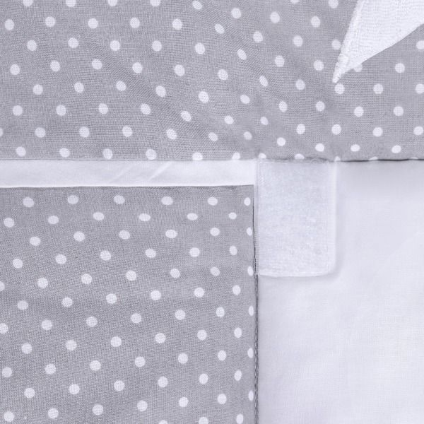 Lulando Mata na przewijak, Kropki Białe na Szarym-Gwiazdki, 75x85 cm zdjęcie 3