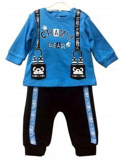 Komplet chłopięcy Crazy Bear, bawełna roz.80