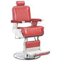 Fotel Barberski, Czerwony, 68X69X116 Cm, Sztuczna Skóra