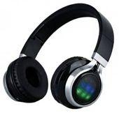 Słuchawki bezprzewodowe nauszne Czerwone Bluetooth LED MP3 Radio M142C