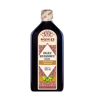 Olej rydzowy (z lnianki) 500 ml tłoczony na zimno
