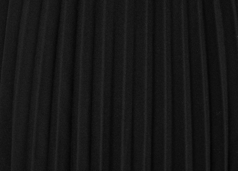 03f3bee2 Włoska Spódnica z Plisami z Gumką w Pasie - Czarna Rozmiar - One size