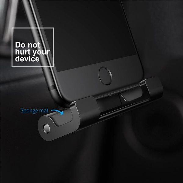 Uchwyt na zagłówek Baseus Backseat dla tabletów i smartfonów (srebrny) zdjęcie 7