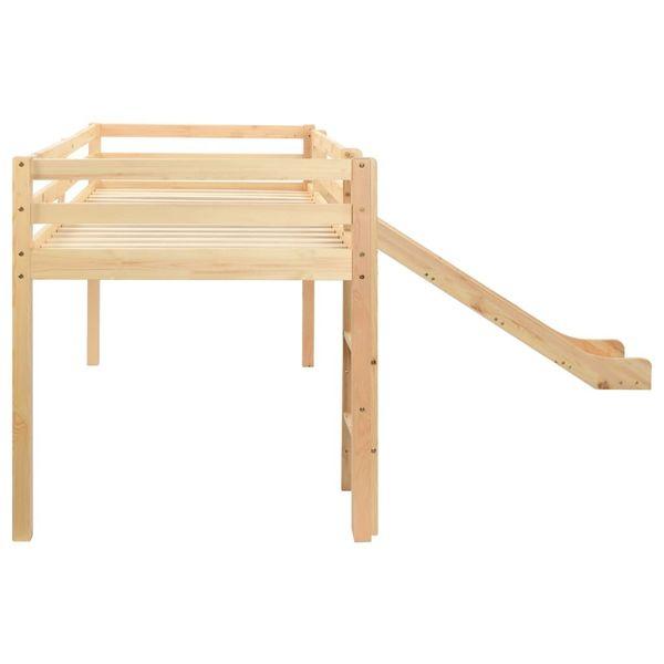 Wysoka Rama łóżka Dziecięcego Zjeżdżalnia I Drabinka 97x208cm 282714