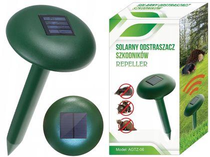 Automatyczny Solarny Odstraszacz Zwierząt - Kret Kuna Mysz Szczur D296