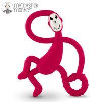 Matchstick Monkey Dancing Red Terapeutyczny Gryzak Masujący ze Szczoteczką