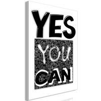 Obraz - Yes you can (1-częściowy) pionowy