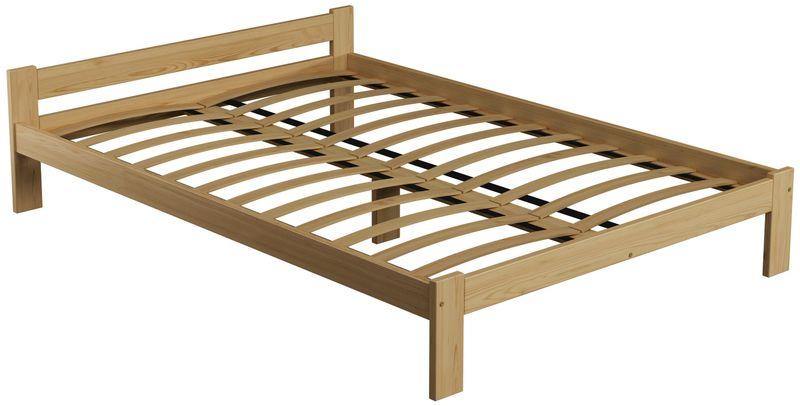 łóżko 140x200 Drewniane Sosnowe Naba Stelaż Elastyczny