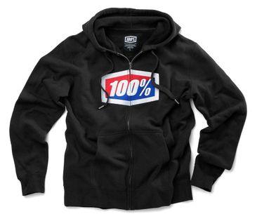 Bluza męska 100% OFFICIAL Hooded Zip Sweatshirt Black roz. XL