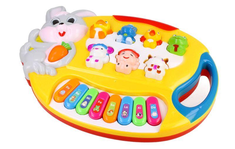 Pianino Organy dla dzieci interaktywne Królik Z349 zdjęcie 4