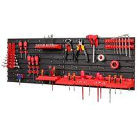 Tablica ścianka narzędziowa do garażu + 20 uchwytów, 3 półki PRO-MIX49