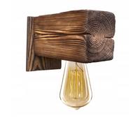 Kinkiet drewniany lampa loft scienna palona stara