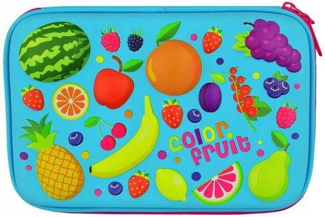 Piórnik 3D Szkolny Owoce Fruits Fruit Usztywniony