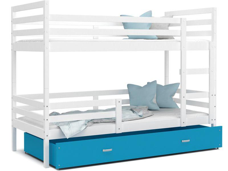 Łóżko piętrowe JACEK COLOR  190x80  szuflada + materace na Arena.pl