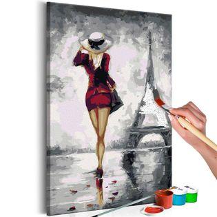 Obraz do samodzielnego malowania - Paryżanka