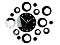Zegar Ścienny KOŁA - Czarny - Nowoczesny Stylowy
