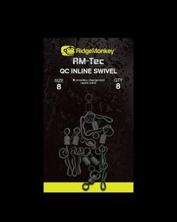 Ridge Monkey- RM-Tec Quick Change Inline Swivel size 8