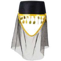 ARABSKI KAPELUSZ czapka z WOALKĄ arabska DAMA