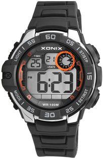 Xonix Zegarek męski sportowy, LCD / LED, wodoszczelny 100 m, wielofunkcyjny, antyalergiczny