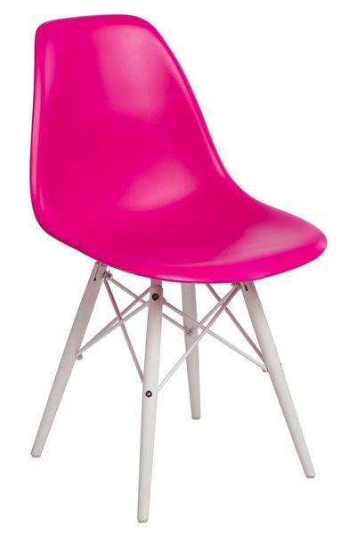 Krzesło P016W PP dark pink/white  D2 zdjęcie 1
