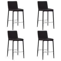 VidaXL Krzesła barowe, 4 szt., brązowe, sztuczna skóra