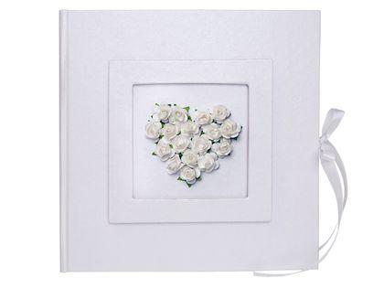 Księga gości weselnych z sercem z róż Ślub Wesele