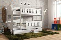 Łóżko piętrowe dwuosobowe IGNAŚ pod materac 80x160
